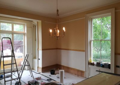 Paint ceiling, frieze & upper wall sections