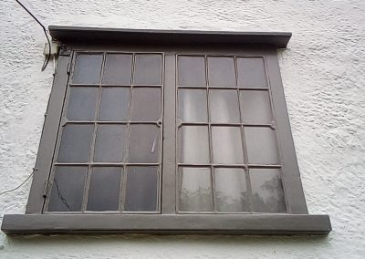 Fully restored and painted upper window