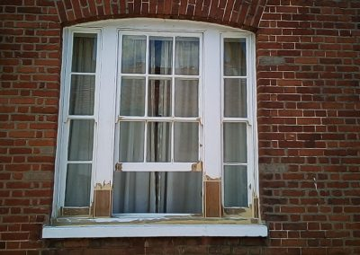 Over view of restored bay window