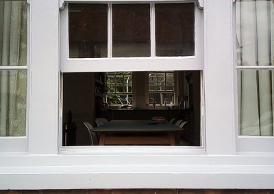 completed close up of main bay window